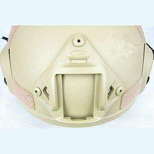 Gezichta Casque tactique de protection style MICH 2001 avec support NVG et rails latéraux pour paintball, airsoft ou CS 5