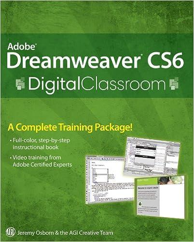 Adobe dreamweaver cs6 digital classroom [pdf].
