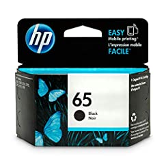 HP 65 Black Ink Cartridge (N9K02AN) for HP DeskJet 2624 2652 2655 3722 3752 3755 3758. HP 65 ink cartridges work with: HP DeskJet 2624, 2652, 2655, 3722, 3752, 3755, 3758. HP 65 ink cartridge yield (approx.): 120 pages. Up to 2x more prints w...
