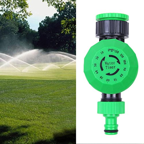 Automatic Mechanical Water Timer, 0-120 minutes, for Yard Garden Hose Sprinkler Irrigation Controller (Green)