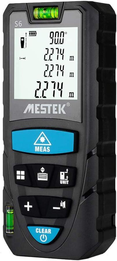 Benkeg Telémetro digital portátil de mano Regla electrónica inteligente IR de alta precisión de 100 m