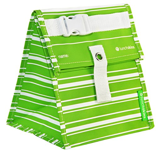 Lunchskins Reusable Lunch Green Stripe product image