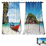 Best Tommy Bahama Beach Boats - Waterproof Window Curtain Surreal Beach in Thailand an Review