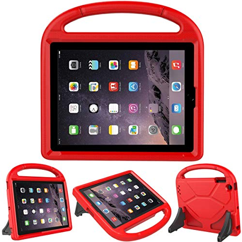 LEDNICEKER Kids Case for iPad 2 3 4 - Light Weight Shock Proof Handle Friendly Convertible Stand Kids Case for iPad 2, iPad 3rd Generation, iPad 4th Gen Tablet - Red