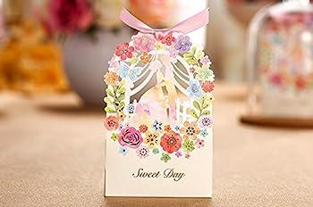 50 Pack Zorpia Romantic Wedding Gift Box