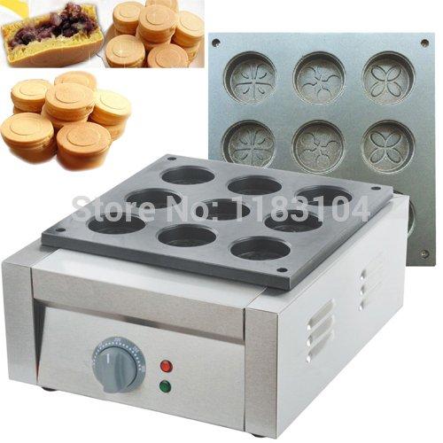 220v Electric Mini Dorayaki Japanese Red Bean Pancake Maker Machine Baker Iron Mold