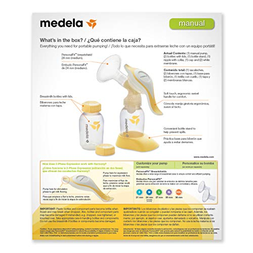 Medela, Harmony Breast Pump, Manual Breast Pump, Portable -6506