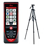 Leica DISTO D810 Touch 660ft Laser Distance Measurer, Point to Point Measuring, Red/Black (Laser + Tripod)