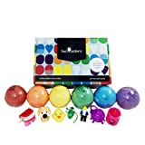 #9: Kids BUBBLE Bath Bombs with Toy Surprises Inside(GENDER NEUTRAL for Boys and Girls) – Large Tennis Ball Size - Kid Safe - Gift Set Kit - Best Lush Fizzy - Made in the USA - by Two Sisters Spa
