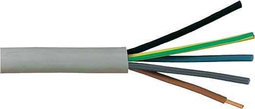 Menge wählbar NYM Installationskabel Mantelleitung NYM-J 3x2,5mm² grau