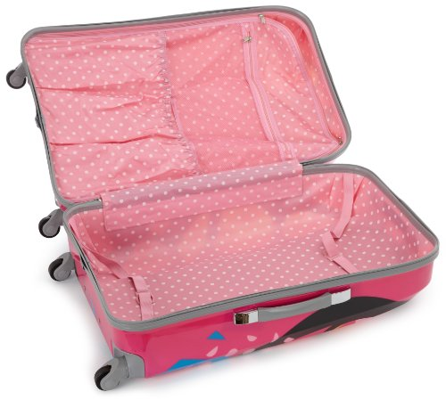 Rockland Luggage Vision Polycarbonate 3 Piece Luggage Set, Love, One Size by Rockland (Image #4)