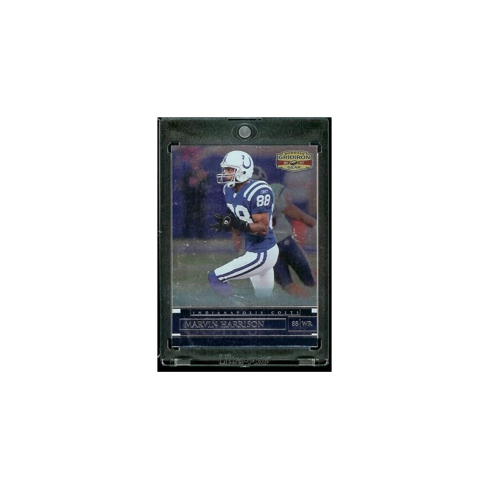 2007 Donruss Gridiron Gear # 81 Marvin Harrison   Indianapolis Colts