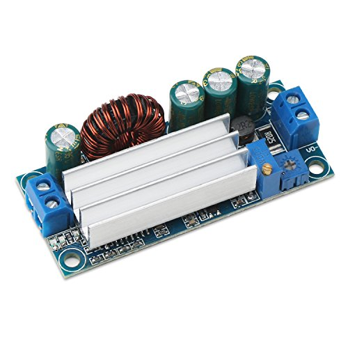 Buck Boost Converter, DROK DC-DC Buck Boost Converter Voltage Step Up Down Regulator CC CV 5-30V to 0.5-30V Adjustable Power Supply Transformer ()