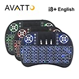 Generic English i8 plus : [AVATTO] Original i8+Backlit 2.4G Wireless Mini Keyboard with Touchpad backlight Air Mouse for Smart tv,PC,laptop,Android Box