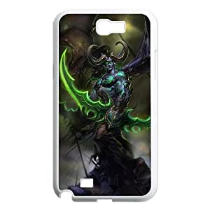 Samsung Galaxy Note 2 White phone case World of Warcraft Illidan Stormrage WOW8643256