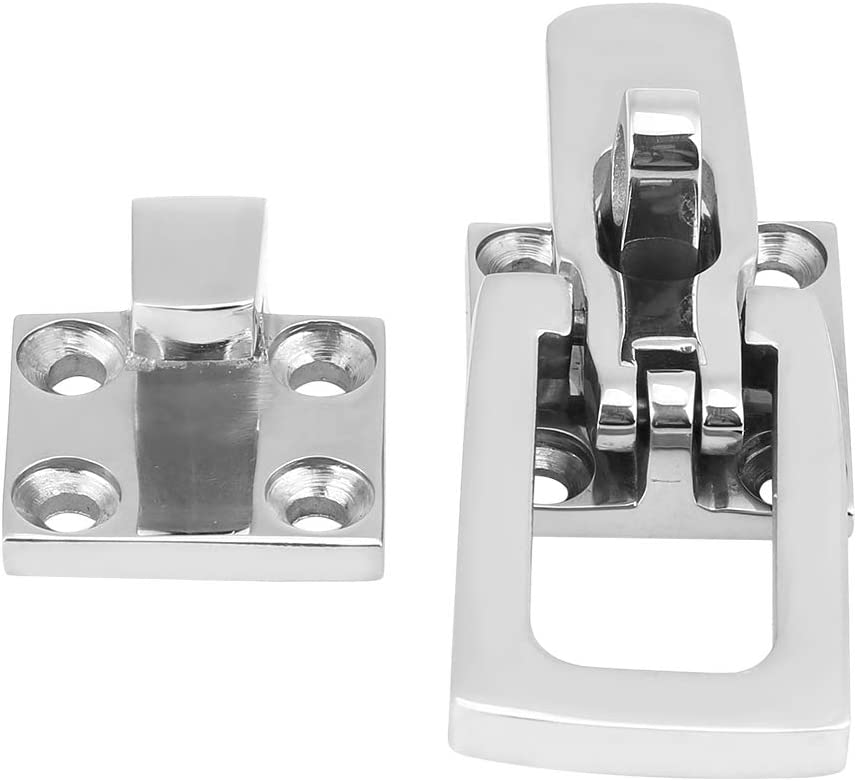 Terisass Anti-Rattle Latch Fastener 316 Stainless Steel Marine Anti-Rattle Locker Hatch Latch Fastener 3.0 1.1Inch Boat Latch Clamp Fastener Universal