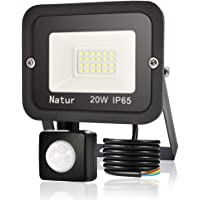 20W Foco LED Exterior con Sensor Movimiento, bapro Proyector LED Alto Brillo 2000 lúmen, IP65 Impermeable Floodlight…