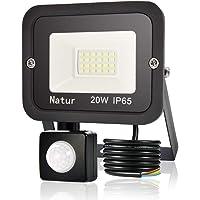 20W Foco LED Exterior con Sensor Movimiento, bapro Proyector LED Alto Brillo 2000 lúmen, IP65 Impermeable Floodlight…
