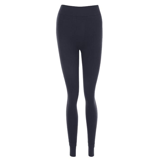 6c5236ec9 Dihope Femme Automne Hiver Longue Pantalon Collant Legging Épais Slim Fit  Chaud Pants