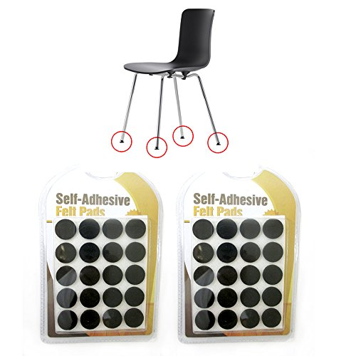 40 x Mini Self Adhesive Shape Felt Pads Furniture Floor Scratch Protector 0.74