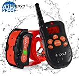ASOGO Shock Collar for Dogs, 100% Waterproof Dog Training Collar,330 yd Remote Dog Training Collar with Beep/Vibrating/Shock Electric Collar – for Small Medium Large Dogs.