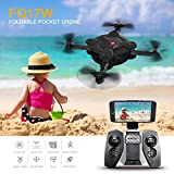 AICase FQ17W WIFI FPV Foldable Pocket Mini Drone With 0.3MP Camera Altitude Hold Mode RC Quacopter Helicopter RTF with Remote Control - Red