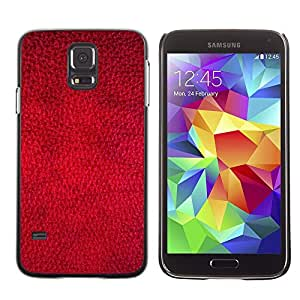 Stuss Case / Funda Carcasa protectora - Red Wallpaper Design Texture Textile Art - Samsung Galaxy S5 SM-G900