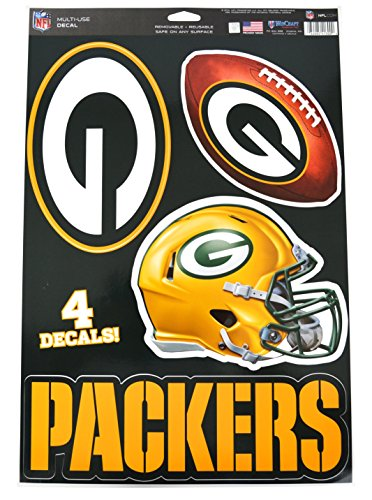 Official National Football League Fan Shop Licensed NFL Shop Multi-use Decals (Green Bay Packers)