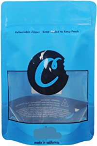 50 Pcs Cookies Ziplock Mylar Resealable Heatseal Bags 7g Premium Smell Proof Reusable Packaging Bag (C2-7g, 50)
