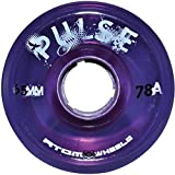 Atom Skates Pulse Outdoor Quad Roller Wheels 78A, Purple, Set of 8, 65mm x 37mm