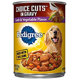 PEDIGREE CHOICE CUTS in Gravy Adult Canned Soft Wet Meaty Dog Food Lamb & Vegetable Flavor, (12) 13.2 oz. Cans
