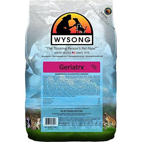 5 lb Wysong Geriatrix Senior Feline Formula Dry Cat Food 5 Pound Bag