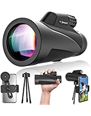 Monocular Telescope,Y-jiayol 12x50 High Powerful Monocular for Phone with Holder & Tripod,Waterproof Zoom Monocular for Adults Kids Bird Watching Hiking Hunting Traveling