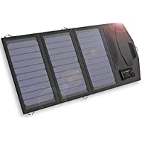 ALLPOWERS 15W Solar Panel Charger with 6000mAh Battery, 3 USB Output, Exclusive Solar Battery Controller, SunPower Charger Power Bank for iPhone 7/6s/Plus, iPad Pro/Air 2/mini, Galaxy