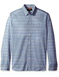 Jack Spade mens Long Sleeve Multi Stripe Shirt