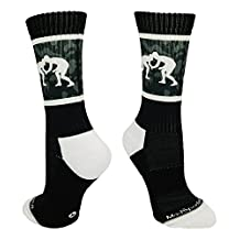 MadSportsStuff Sublimated Fighting Wrestlers Athletic Crew Socks