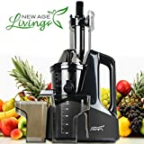 New Age Living SJC-1500 Masticating Slow Juicer Machine   Best 45 RPM Cold Press Juicing Speed   Juices Whole Fruits, Vegetables, More   Premium Quality With 5 Year Warranty