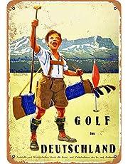 Golf Deutschland Lichtgewicht metalen tin plaque stevig en duurzaam retro look die nooit vervaagt 20 * 30 cm