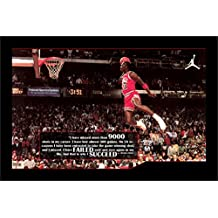 SUCCEED Michael Jordan Classic Flying dunk MOTIVATIONAL Inspirational Poster Print For Home office decor or boy gift 20x30Inch