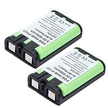 2x Masione HHR-P107 Cordless Phone Battery for Panasonic HHR-P107 KXTGA600S KXTGA601
