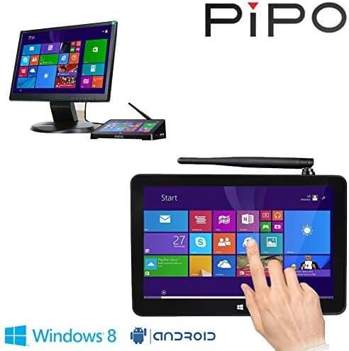 PIPO X8 Mini PC Windows8.1 Android4.4 Dual Boot Intel Atom Z3736F Quad Core Mini Computer Box 7