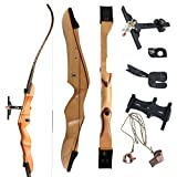 """SinoArt 68"""" Takedown Recurve Bow Adult Archery Competition Athletic Bow Weights 18 20 22 24 26 28 30 32 34 36 LB RIGHT HANDED Archery Kit for Outdoor Training Hunting Shooting"""