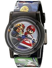 Nintendo NMK3403 - Reloj de cuarzo analógico con visualización digital multicolor, para niños
