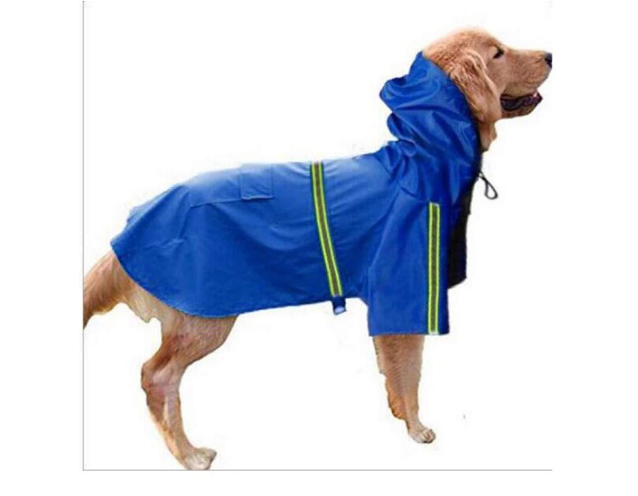 QICHE Pet Supplies Impermeabile Riflettente per Cani di Taglia Grande Impermeabile Grande Cane, L