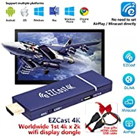 EZCast 4K Worldwide 1st 4Kx2K WiFi Display Dongle 2.4G/5G HDMI Media Streaming Stick Support MiraCast AirPlay DLNA