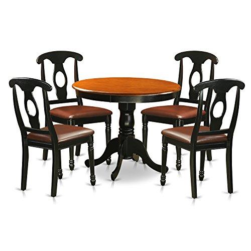 Black Family Diner 3 Piece Corner Dining: 5 Piece Dining Room Sets: Amazon.com