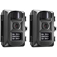 Primos Easy Cam IR LED 5MP Game or Trail Camera Black, 63051 (2-Pack)