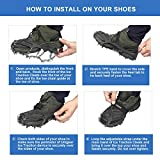 Unigear Traction Cleats Ice Snow Grips with 18