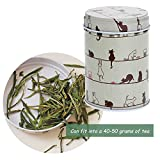 Huayang| 1Pc Lovely Double Layer Seal Tea Canister, Caddy Storage Box, Candy Storage Tin, Coffee Canister, Latching Tea Tin, Household Container