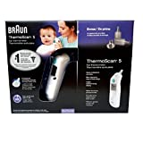 Braun Thermoscan 5 Ear Thermometer with 40 lens filters